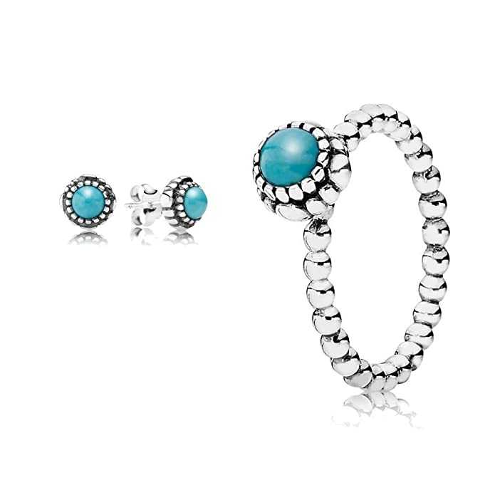 earrings london birthstone droplets crystal stud en pandora blue december