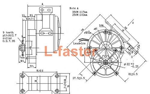 L-faster 350W V/élo /électrique Kit moteur gauche Kit moto Kit v/élo de montagne Kit de moteur /électrique personnalis/é Pour v/élo suspendu