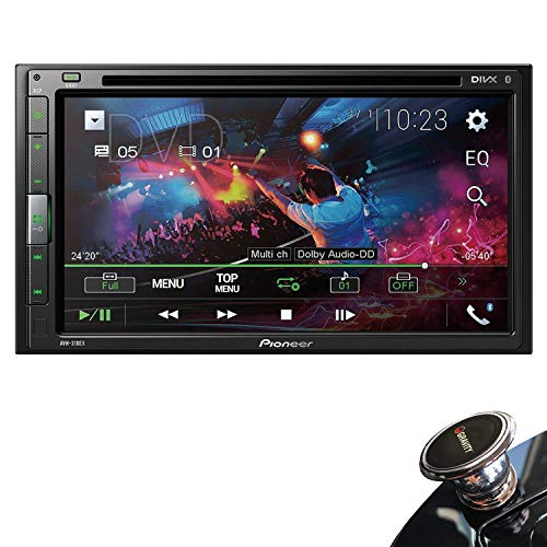 Pioneer AVH-310EX Double-DIN 6.8-inch In-dash Car DVD Receiver with Built-in Bluetooth Streaming with HD Backup Camera Included and Gravity Magnet Phone Holder