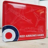 RAF Red Arrows Hawk Blueprint Tin Storage Box by Royal Air Force