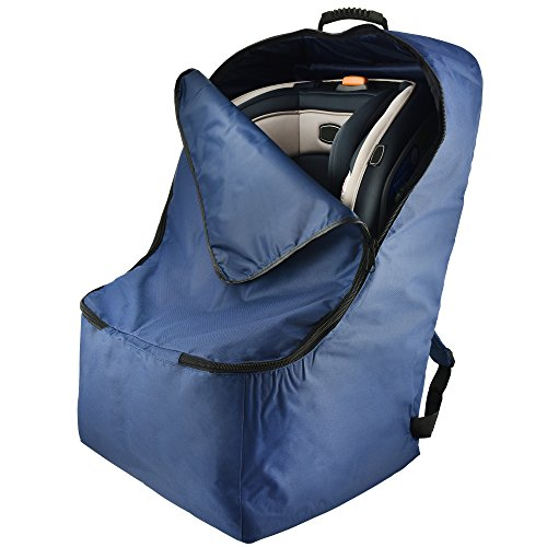 Car-Seat-Travel-Bag-By-Treetop-Gear-Best-Padded-Backpack-For-Car-Seats-w-Front-Zippered-Pocket-Handles-Compatible-With-Most-Car-Seats-Blue