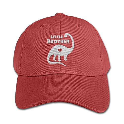 (Dawn Hilary Keats TeeStars - Little Brother Gift For Dinosaur Loving Youth Girls/Boys Low Profile Cap Brushed Adjustable Plain Baseball Cap Red)