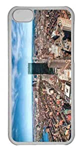 Customized iphone 5C PC Transparent Case - Fisheye City Photography Personalized Cover