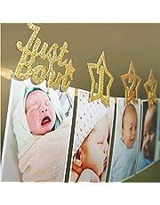لافتة لتعليق صور الطفل من يوم ولادته وحتى بلوغه 12 شهرا بشكل شهري للاحتفال بمناسبة عيد ميلاده الاول بتصميم مذهل من سي ستار، لوازم ديكور وزينة للاحتفال بعيد ميلاد الطفل الاول