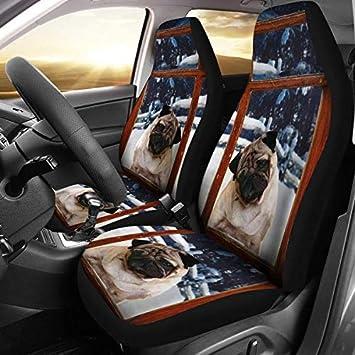 Fantastic Amazon Com Pug Dog With Window Print Car Seat Covers Inzonedesignstudio Interior Chair Design Inzonedesignstudiocom
