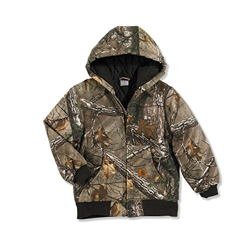 Carhartt Big Boys' Work Camo Active Jacket, Realtree Xtra, 14-16/Large