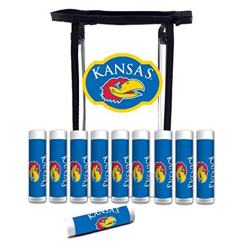 Worthy Promo NCAA Kansas Jayhawks 10-Pack Premium Lip Balm Gift Set