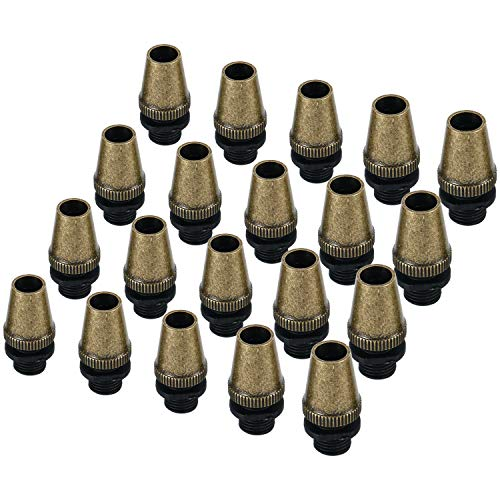 - Retro Metal 20 Pcs Strain Relief Cord Connector Pendant Lighting Cord, YaeTek Aluminum Threaded Cord Grip Wire Clamp for Lamp Power Cable Connector (Antique Bronze)