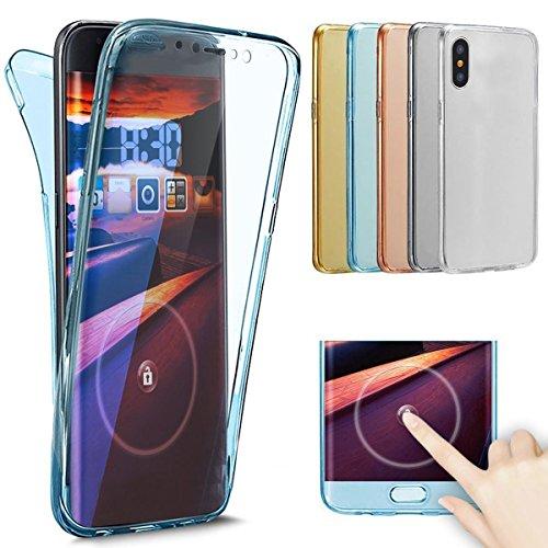 iPhone X Caso, iPhone 10Carcasa Brillante, ikasefu Bling Brillante 360Full Body cobertura Protección Cover Carcasa...