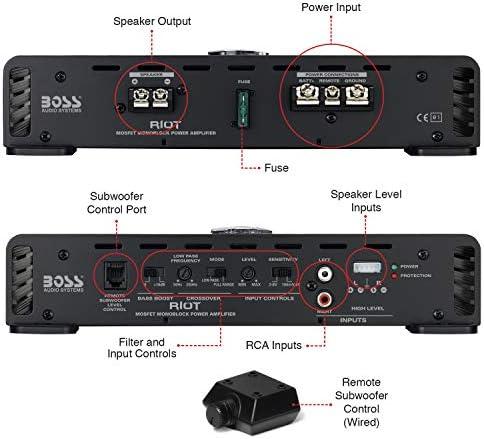 Boss Audio R1100m Riot Serie Monoblock 1100 Watt Klasse A B Verstärker Heimkino Tv Video