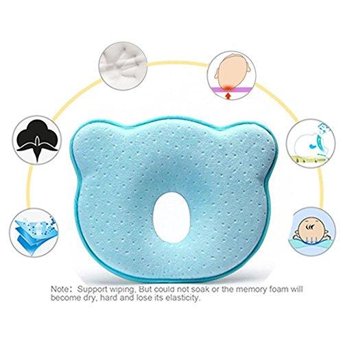 Bebé almohada, EuaTeo bebé cabeza Shaping almohada de espuma de memoria almohada de cabeza plana síndrome Prevención...