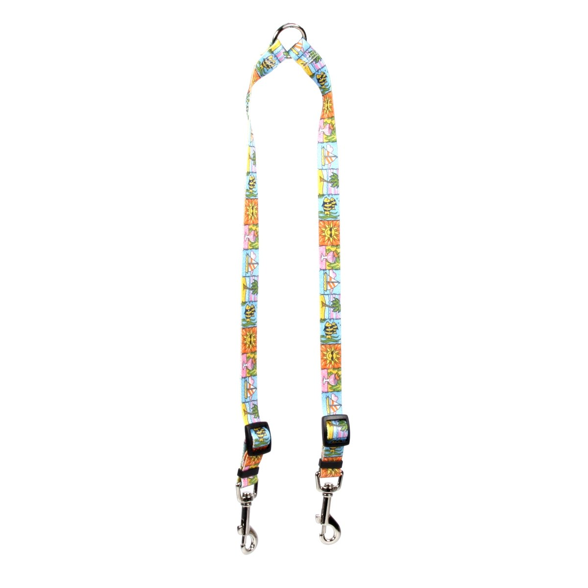 Yellow Dog Design Seaside Coupler Dog Leash-Size Large-1 inch Wide and 12 to 20 inches Long by Yellow Dog Design