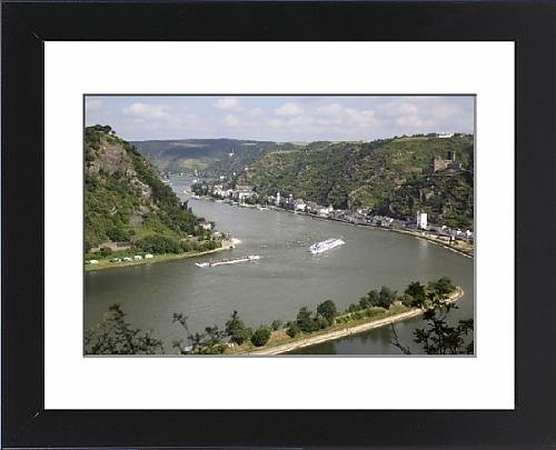 Framed Print of River Rhine gorge from Loreley (Lorelei)
