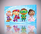 Super Why Whyatt CANVAS PRINT Wall Home Decor Giclee Art Poster Kids CA737, Large