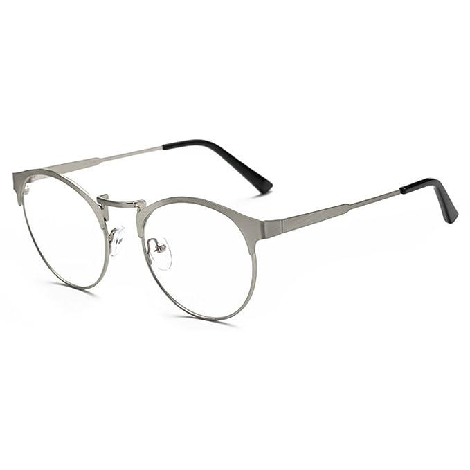 Occhiali Anti-blu - Occhiali da Vista Rotondi in Metallo per Uomo e Donna Occhiali Trasparenti Per Occhiali da Vista Vintage sYC1dsY