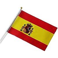 Nikgic Mini Bandera de España, 14cm*21cm, de País