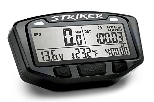 Trail Tech 712-110 Black Striker Speedometer Digital Gauge Kit with Volt Meter