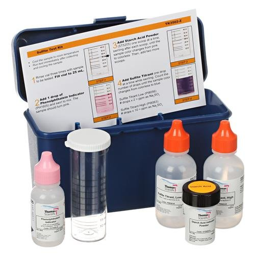 Thomas TK3507-Z EndPoint ID Sulfite Test Kit - 1 Drop = 6 ppm as SO3/25 mL