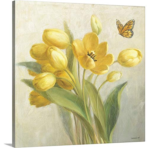 Yellow French Tulips Canvas Wall Art Print, 24
