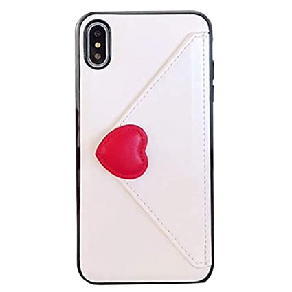 1c4d6856aecb Amazon.com: SGVAHY Leather Wallet Case for iPhone X/XS, Cute Cat ...