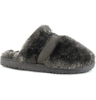 890b34da1fdd5 Women s Ella Jenny Warm Faux Fur Lined Memory Foam Mules Slippers ...