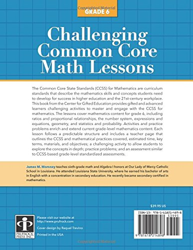 Amazon.com: Challenging Common Core Math Lessons (Grade 6 ...