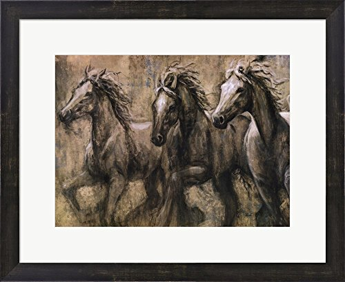 Desert Kings by Karen Dupre Framed Art Print Wall Picture, Espresso Brown Frame, 22 x 18 inches