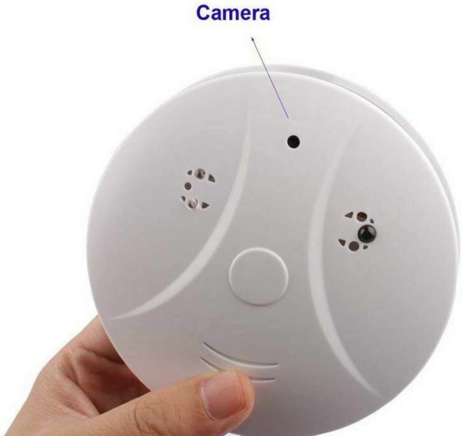 Greyghost Smoke Detector Hidden Spy Camera DVR Security Nanny Camcorder Motion Detection with Remote Controller