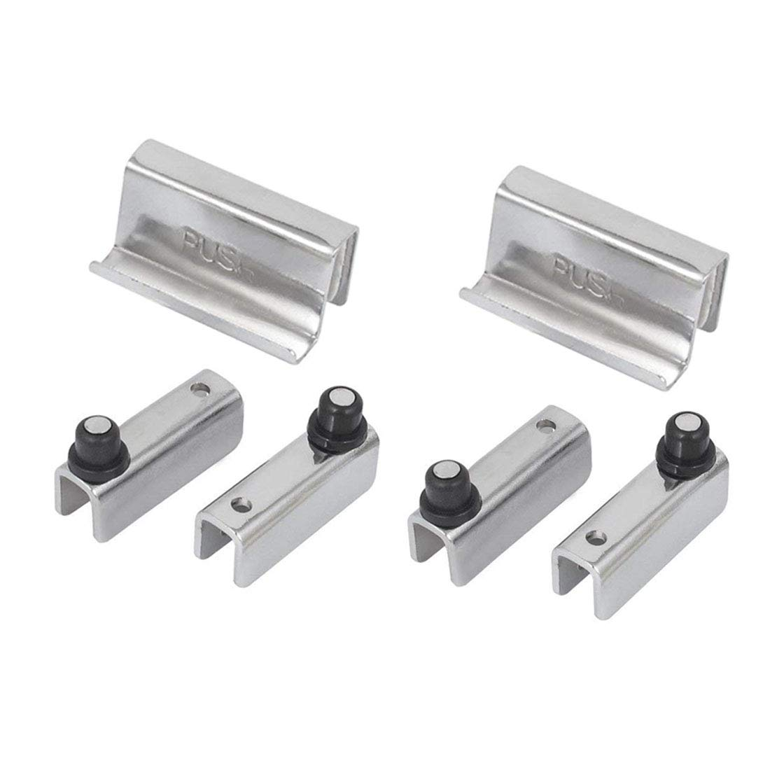 Sipery Glass Door Double Magnetic Touch Catch Latch with Clamp Compatible Glass Door Cabinet