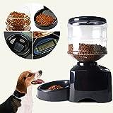 New Black 5.5L Automatic Pet Feeder Food Dish Bowl Dispenser LCD Display Dog Cat