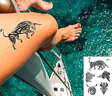 Líneas Tatuajes grafische Tatuajes Toro negro Fake Tatuajes j503 ...