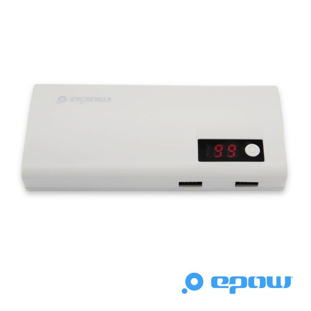 epow negro Universal alta capacidad 13000 mAh recargable de reserva externa con pantalla digital LED y 2 x puertos USB (2,1 A/1 A) para teléfonos móviles y ...