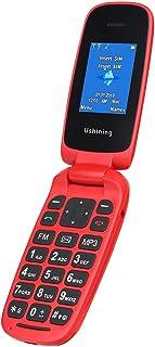 Ushining Teléfono Móvil Libre, Teléfono Móvil para Personas Mayores  (Rojo)
