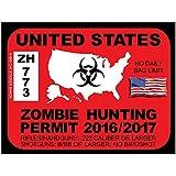 United States Zombie Hunting Permit (Bumper Sticker)