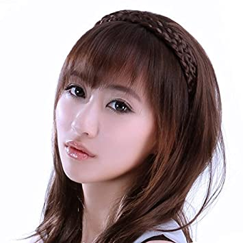 Amazon Korean Hair Color Wig Piece Air Fake Bangs Hair Bands