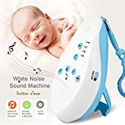 S7 White Noise Machine Sleep Sound Machine with Shut-Off Timer, Voice Recorder, 7 Natural Soothing Therapy Sounds for Baby, Infants, Kids, Adults [UPGRADED 2018]