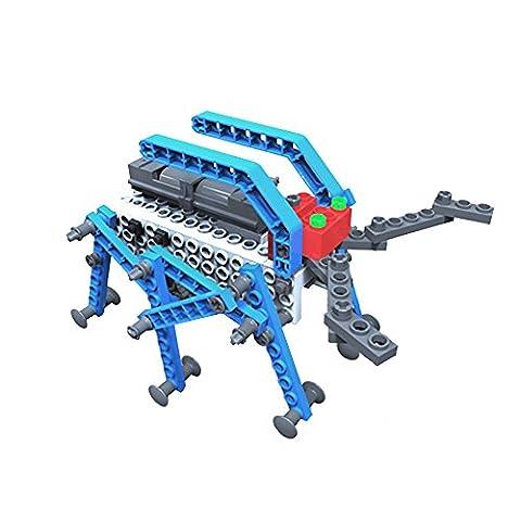 AR Motorial Building Robot, SainSmart Jr. BT-01 DIY Assembling Robotic Block Set, Battery Motor Operated (The Beatles Lego)