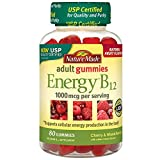Nature Made Energy B-12 Adult Gummies, Cherry & Wild Berries 80 ea(Pack of 4) For Sale