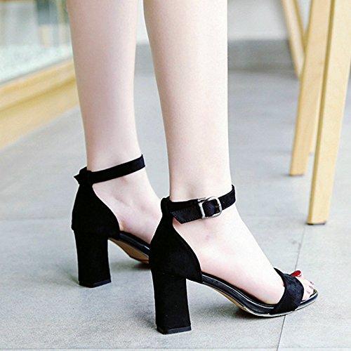 Avec Romain Femmes SHOESHAOGE High L'Aide D'Épais Femme À Sandales Tie Chaussures Simple Heeled EU39 8qqHTzx