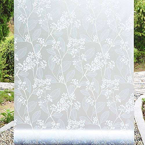 Frosted Window Films Glass Film, Sunscreen Film Self-Adhesive Easy to Install for Bathroom Bedroom Office Opaque Window Sticker Shading-T-90x200Cm(35x79Inch)