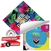 Wedding Anniversary Bundle Gift For Couples, Celebrate Your Special Date With This Present: Set of FOUR 11'' 17'' Posters and Beautifully Illustrated Wedding Album.