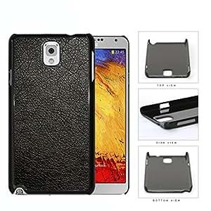 Genuine Leather Design Look Hard Plastic Snap On Cell Phone Case Samsung Galaxy Note 3 III N9000 N9002 N9005