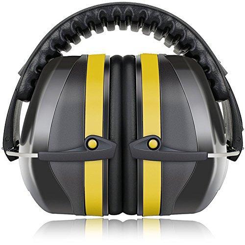 Hearing Protector Earmuff (Fnova 34dB Highest NRR Safety Ear Muffs - Professional Ear Defenders for Shooting, Adjustable Headband Ear Protection / Shooting Hearing Protector Earmuffs Fits Adults to Kids)