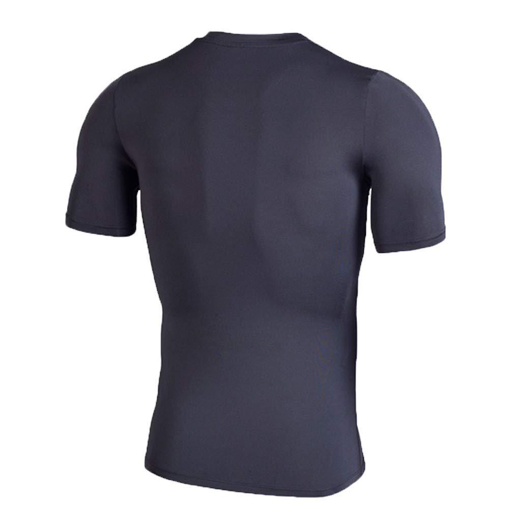 Casual Sport Training Air-Permeable Short Sleeves Bsjmlxg Mens New Elastic Fast-Drying Tight Garment