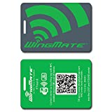 WingMate Traveler Passive Tracking Smart Luggage Tag with web app! (Green)
