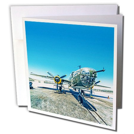 3dRose Boehm Photography Aircraft - B-25 Mitchell Bomber - 6 Greeting Cards with envelopes (gc_186793_1)