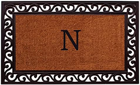 Home More 100061830N Rembrandt Monogram Doormat Letter N