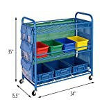 Honey-Can-Do CRT-03477 All Purpose Rolling Activity Cart, Blue, 34L x 35H