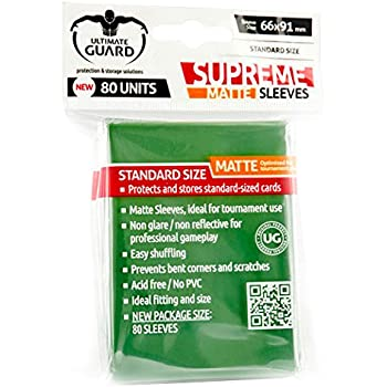 Amazon.com: Ultimate Guard Supreme Green Sleeves(80): Toys ...