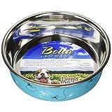 Loving Pets Bella - tazón, diseño con Texto Designer & Expressions, Libélula, Dragonfly, Turquoise, Large